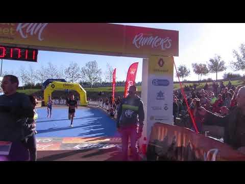Llegada de la campeona 5km