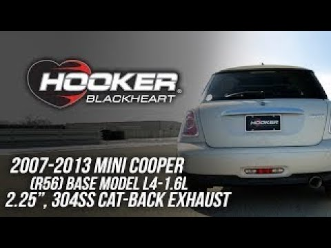2007-2013 Mini Cooper (R56) Base Model L4-1.6L - Hooker Blackheart Cat-Back Exhaust BH8318