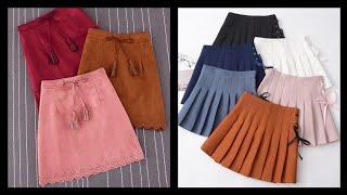 Best Mini Skirts Design Ideas For Girls 2020 - Latest Winter Mini Skirts Designs.