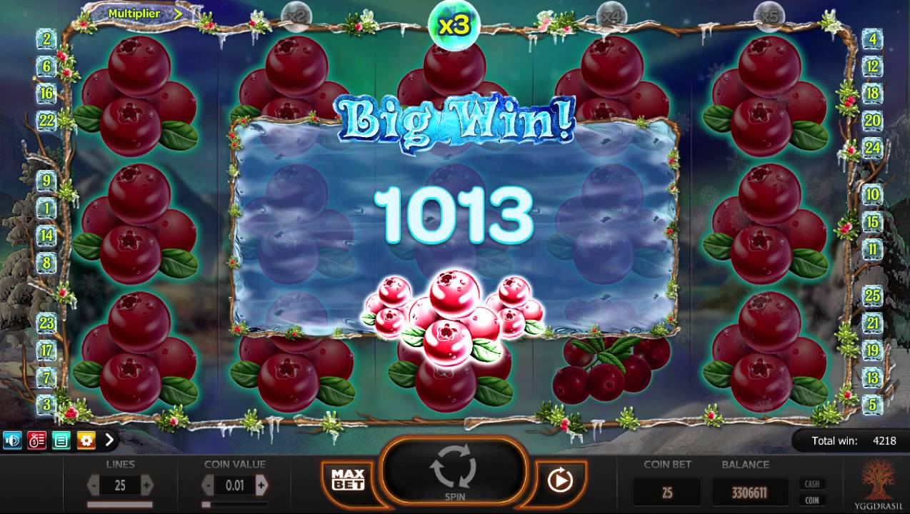 Winterberries från Yggdrasil Gaming