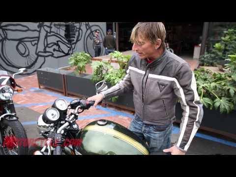 2013 Moto Guzzi V7 Racer vs. 2013 Triumph Thruxton