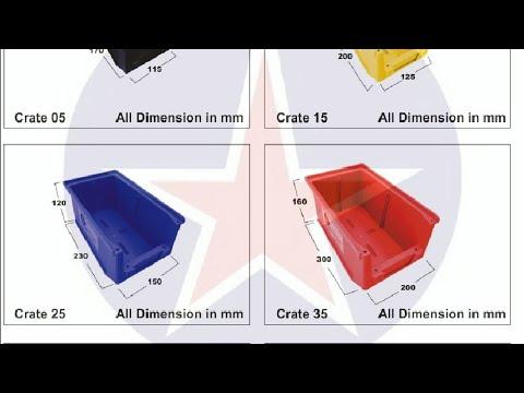 Yellow 15  Plastic Bin