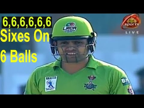 Kamran Akmal 6 Sixes On 6 Balls In National T20 Cup 2017
