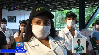 Visita gubernamental constata con los jóvenes santiagueros