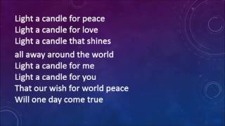 """Video thumbnail of """"Sing Peace Around the World with lyrics"""""""