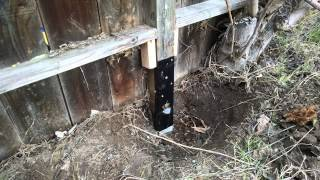 Steps how fix leaning fence