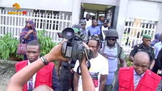NAIRA MARLEY UNDER TIGHT SECURITY IN COURT WITH EFCC