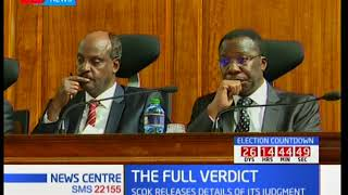 Sentiments made by CJ Maraga reacting to uproar regarding the removal of two judges
