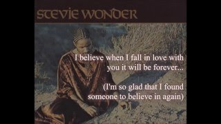 Stevie Wonder - I Believe When I Fall In Love It Will Be Forever (lyrics)