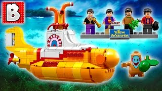Lego The Beatles Yellow Submarine Set 21306 | Unbox Build Time Lapse Review