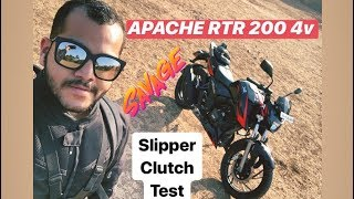 TVS Apache RTR 200 4V Race Edition: Slipper Clutch Test (Hindi + English)