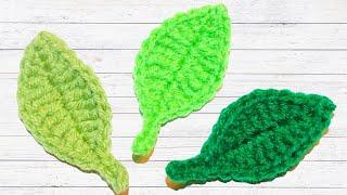 How To Crochet Simple Leaf Tutorial - Crochet Jewel
