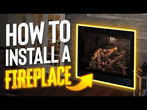 How to install a Fireplace, start to finish (direct vent, natural gas)