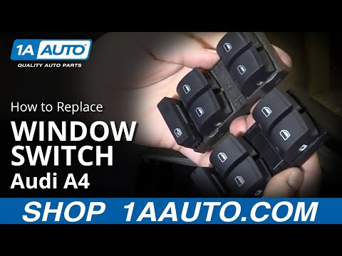 How to Replace Master Power Window Switch 02-08 Audi A4