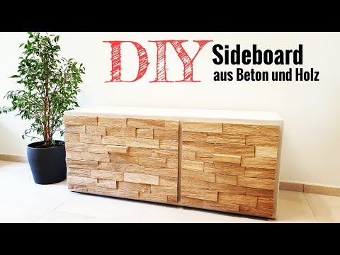 DIY Sideboard / Sitzbank aus Beton und Holz selber bauen