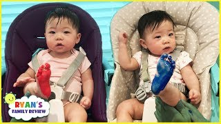 Twin Babies Learn Colors With Foot Paint! Finger Family Song & Nursery Rhymes For Kids
