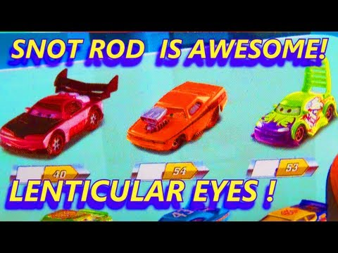 Disney Pixar CARS Toys Lenticular Eyes Series Diecast Collection CHUKI Booklet Snot Rod Boost Wingo