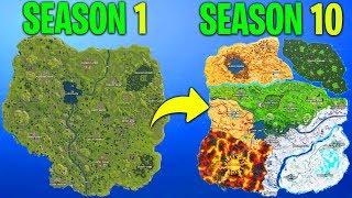 Evolution of the entire Fortnite island (Season 1 - Season 10)