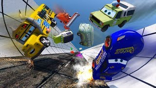 Crash Cars Fabulous McQueen Miss Fritter Todd Pizza Miles Axlerod And Friends