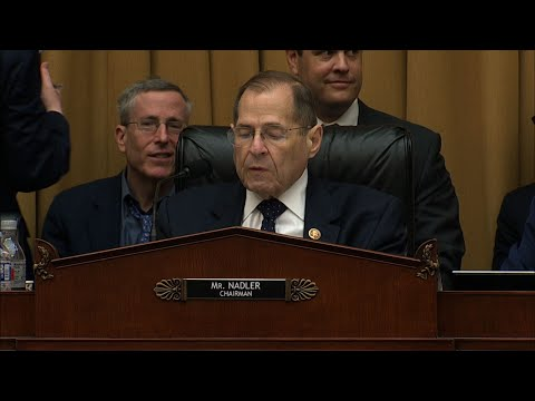 Ahead of a House Judiciary Committee vote to hold Attorney General William Barr in contempt of Congress, Chairman Jerrold Nadler said President Trump's executive privilege assertion is an escalation of his