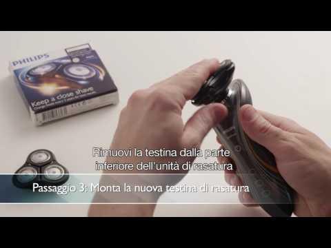 Rasoio Philips SensoTouch  Come sostituire le testine ST2D di un rasoio rotativo