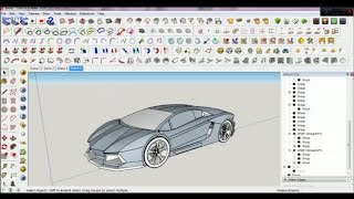 How to create a car in google sketchup tutorial most popular videos how to make lamborghini aventador on sketchup using blueprint full malvernweather Choice Image