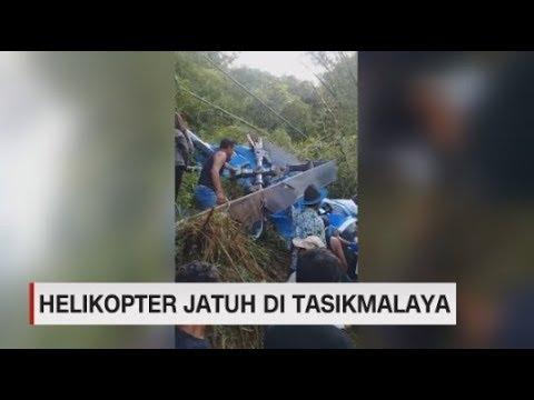 Helikopter Jatuh di Tasikmalaya, 4 Orang Terluka