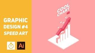 Graphic Design #4 - Cool Isometric Infographic - Speed Art (Illustrator)