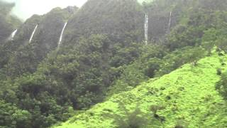 preview picture of video 'Water Falls Kaneohe H-3 from heavy rains 05/12/2013'