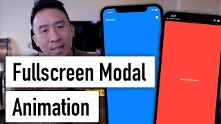 SwiftUI Fullscreen Modal Hack withAnimation