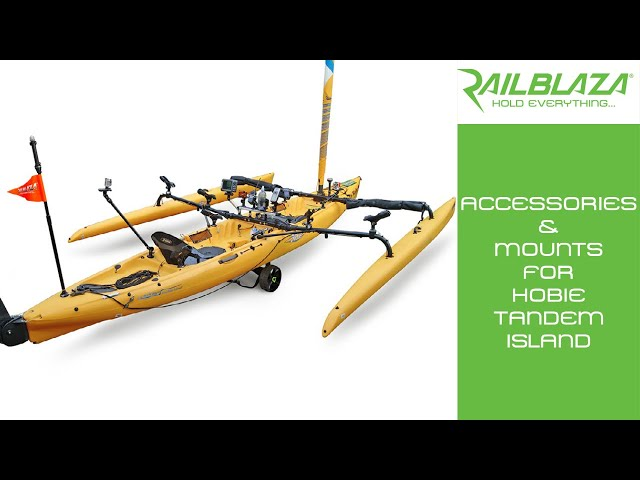 Accessories & mounts for Hobie Tandem Island Fishing kayak