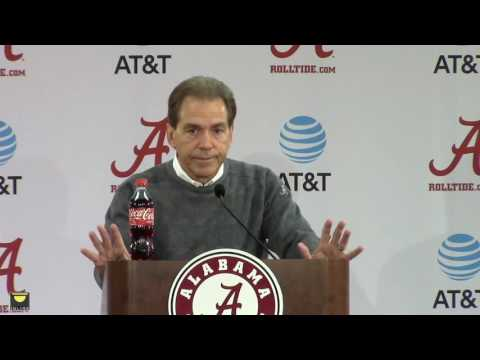 Watch Nick Saban preview the Iron Bowl, talk injuries, scout the Tigers