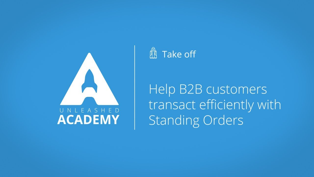 Help B2B customers transact efficiently with Standing Orders YouTube thumbnail image