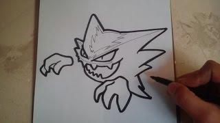 COMO DIBUJAR A HAUNTER - POKEMON / how to draw haunter - pokemon