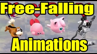 All Free-Falling Animations in Super Smash Bros Wii U