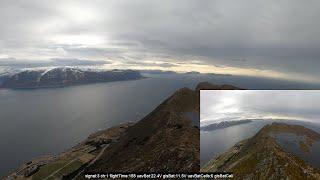 Testing out some home made batteries (Norway DJI FPV long range DC7 Titan)