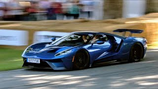 The last Ford GT run on Sunday at Goodwood Festival of Speed 2017