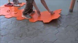 אריחי בטון - איך להדפיס רצפת אריחי בטון