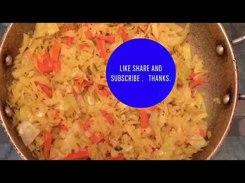 , title : 'Cabbage 🥬 carrots 🥕Recipe  |Gujarati Style|  Shambharo | Healthy | Easy to Digest| side Dish| Subj