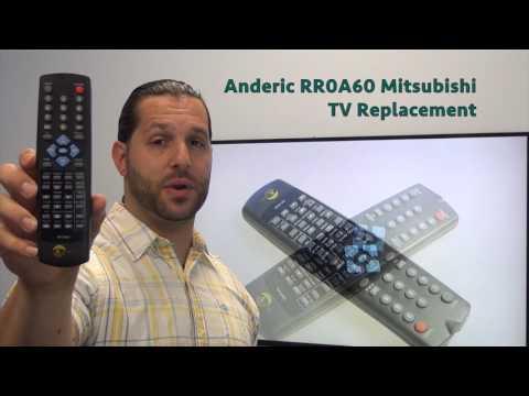 ANDERIC RR0A60 Mitsubishi TV Remote Control