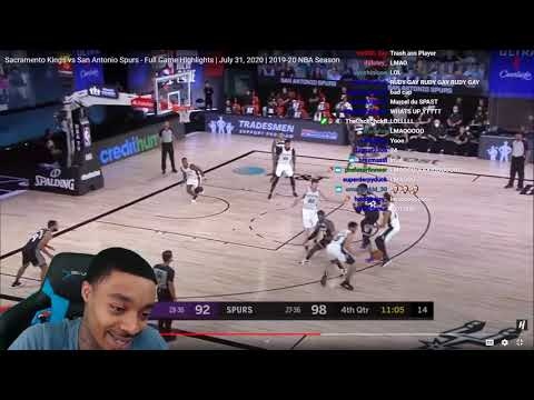 FlightReacts Sacramento Kings vs San Antonio Spurs – Full Game Highlights | July 31, 2020!