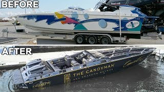 The Candymans Cigarette boat refit project