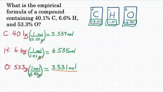 Calculate Empirical Formula From Percent - Practice - 3