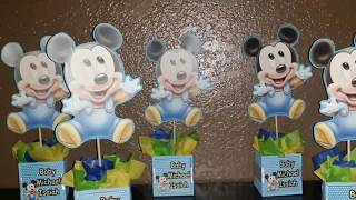 DIY Baby Mickey Inspired Centerpieces