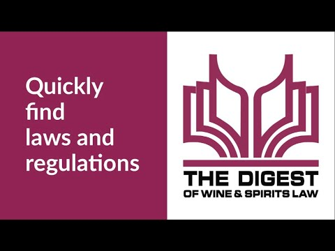 The Digest of Wine & Spirits Law Demo