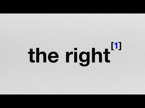 Endnote 1: What I Mean When I Say The Right