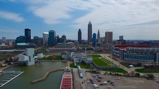 Flying the drone over CLEVELAND