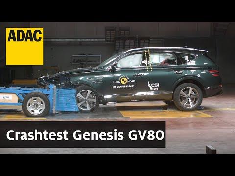 Genesis GV80 im Crashtest   ADAC & Euro NCAP