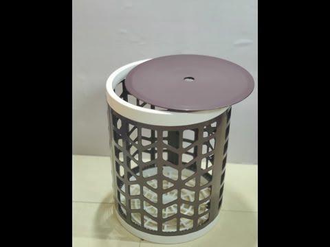 Laundry basket cum folding stool