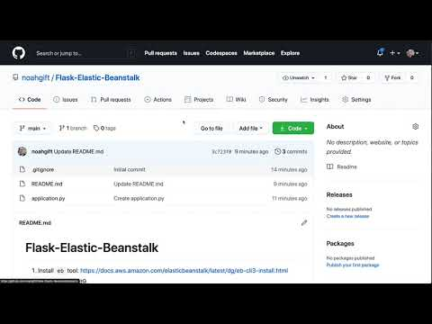 Build a simple AWS Elastic Beanstalk Website